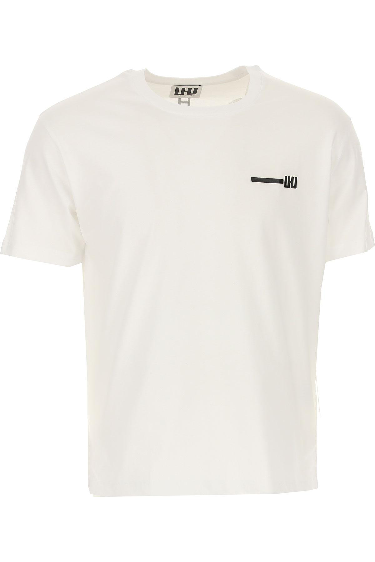Les Hommes T-Shirt for Men On Sale, White, Cotton, 2019, L M XL