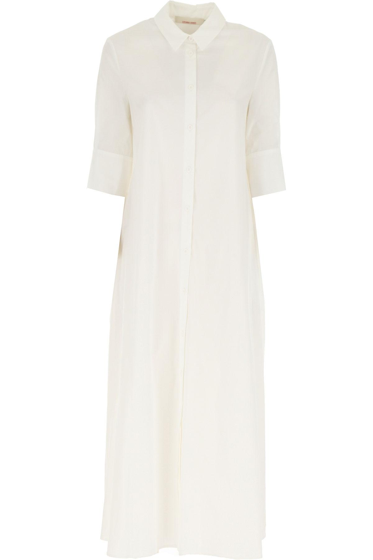 Liviana Conti Robe Femme Pas cher en Soldes, Blanc, Coton, 2019, 40 46 M