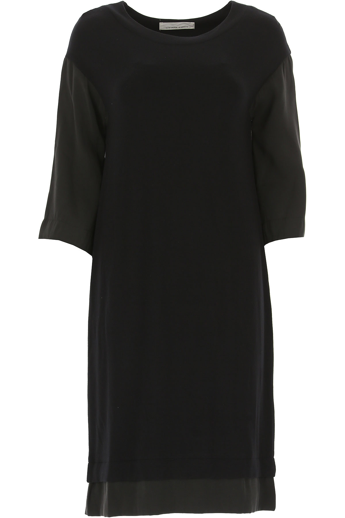 Image of Liviana Conti Dress for Women, Evening Cocktail Party, Black, Viscose, 2017, 4 6
