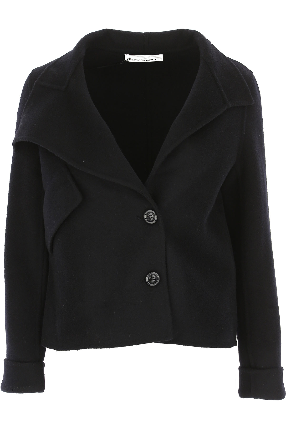 Image of Liviana Conti Jacket for Women, Black, Wool, 2017, 2 4 6