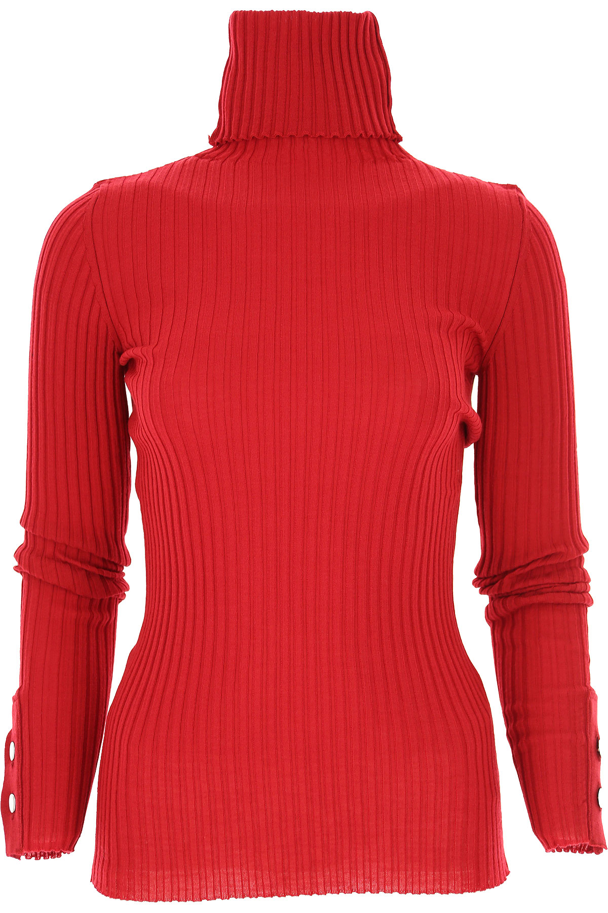 Liviana Conti Sweater for Women Jumper On Sale, Dark Red, Wool, 2019, 6 8