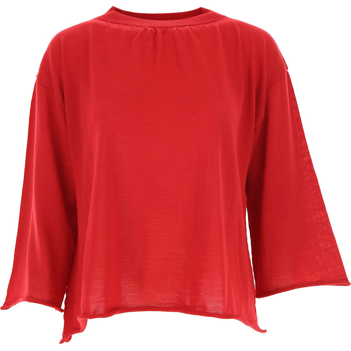 Liviana Conti Sweater for Women Jumper On Sale, Red, Virgin wool, 2019, 10 4 6