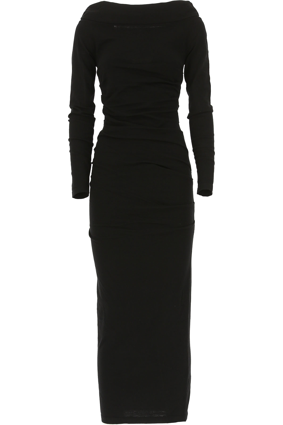 Image of Liviana Conti Dress for Women, Evening Cocktail Party, Black, Viscose, 2017, 6 8
