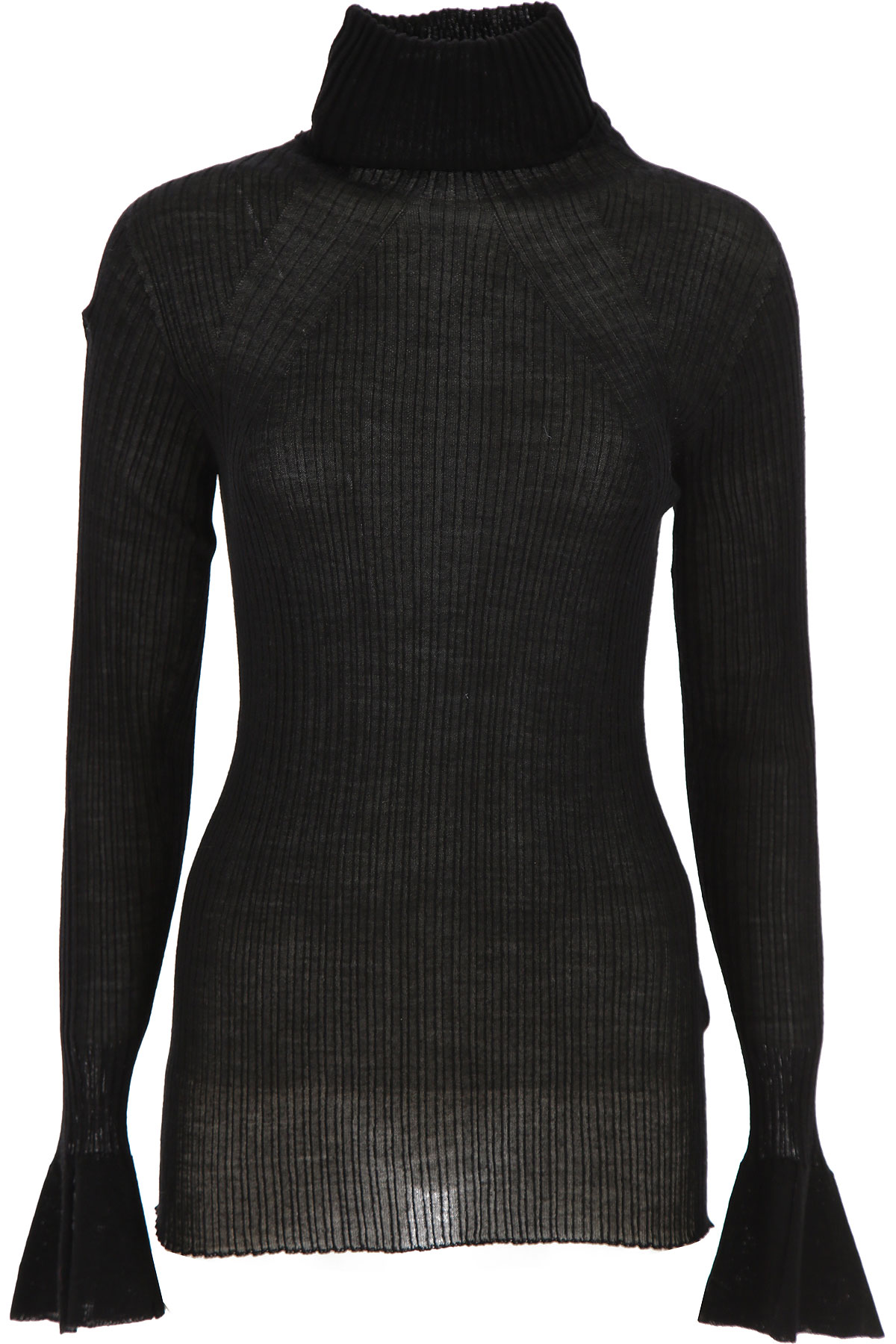 Liviana Conti Sweater for Women Jumper On Sale, Black, Wool, 2019, 4 6 8