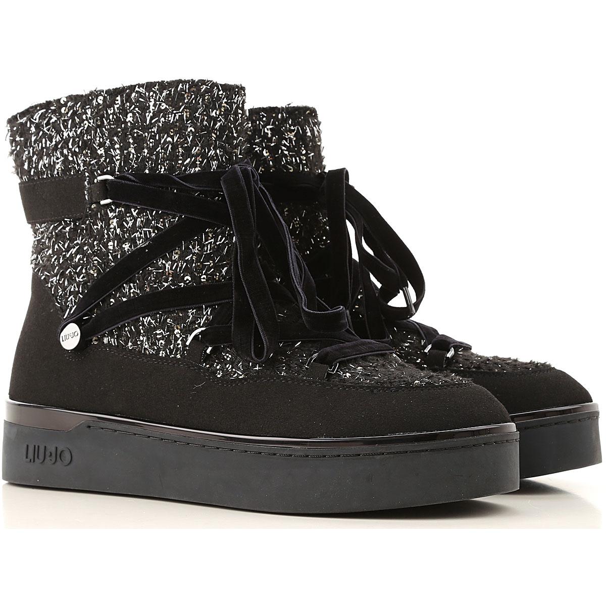 Liu Jo Boots for Women, Booties On Sale, Black, Wool, 2019, 10 6 7 9