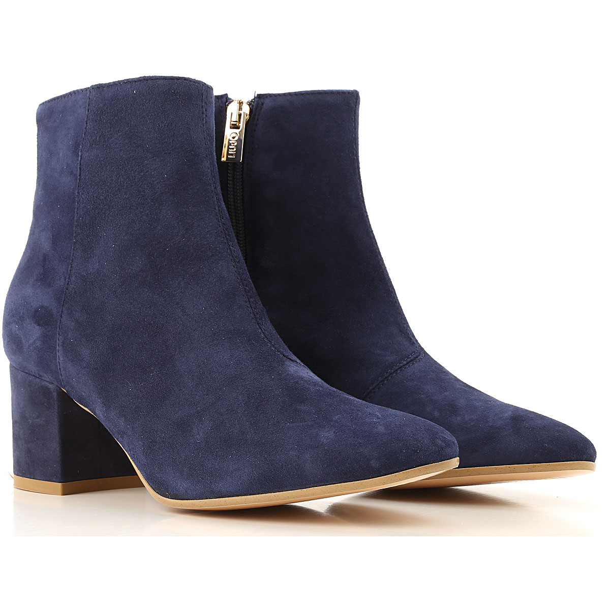 Liu Jo Boots for Women, Booties On Sale, Blue, Suede leather, 2019, 10 8 9