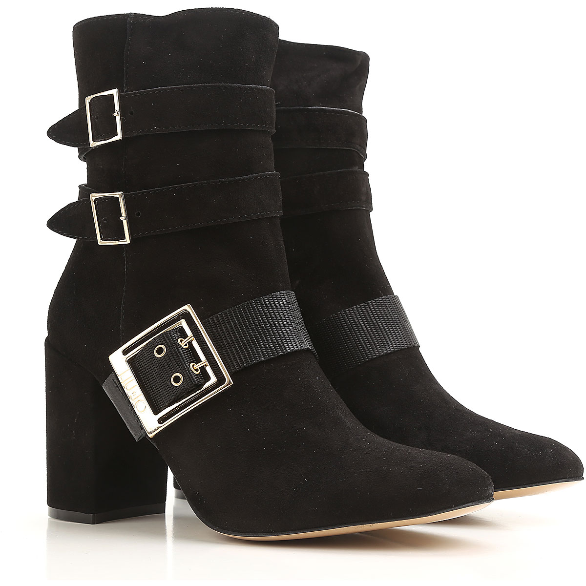 Liu Jo Boots for Women, Booties On Sale in Outlet, Black, Suede leather, 2017, 6 9