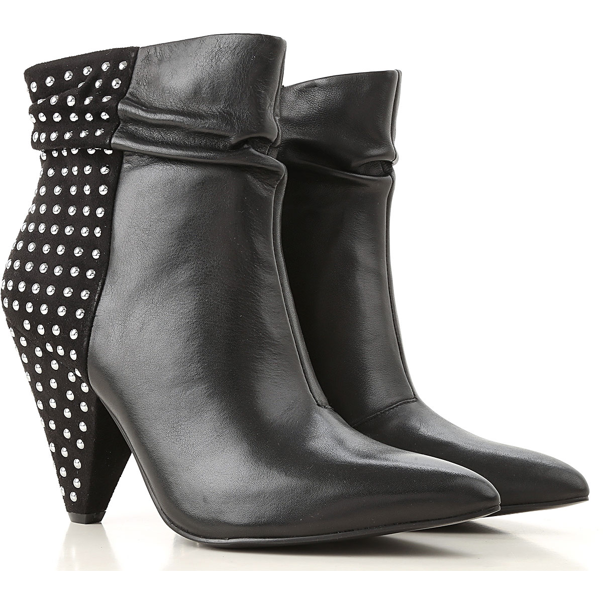 Liu Jo Boots for Women, Booties, Black, Leather, 2017, 6 7 8