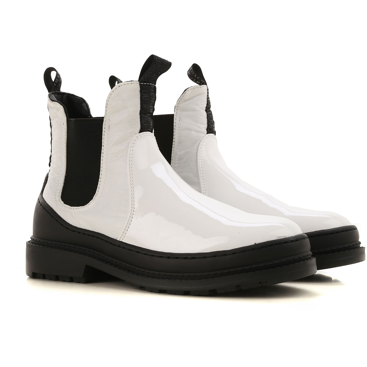Liu Jo Chelsea Boots for Women On Sale, White, Eco Patent Leather, 2019, 5 6 7 8 9