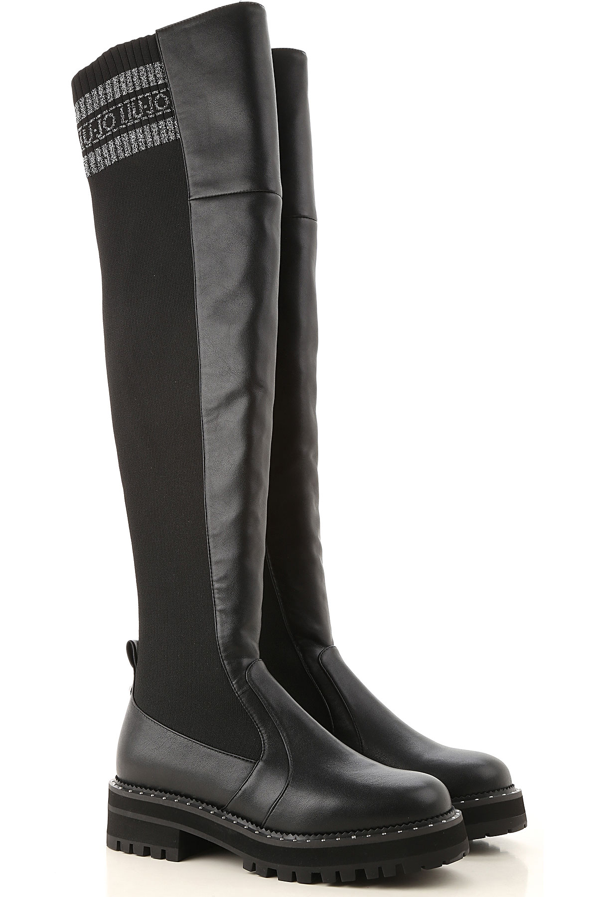 Liu Jo Boots for Women, Booties On Sale, Black, Eco Leather, 2019, 10 5 9