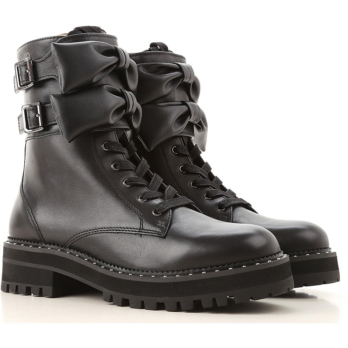 Liu Jo Boots for Women, Booties On Sale, Black, Leather, 2019, 5 6 7 8
