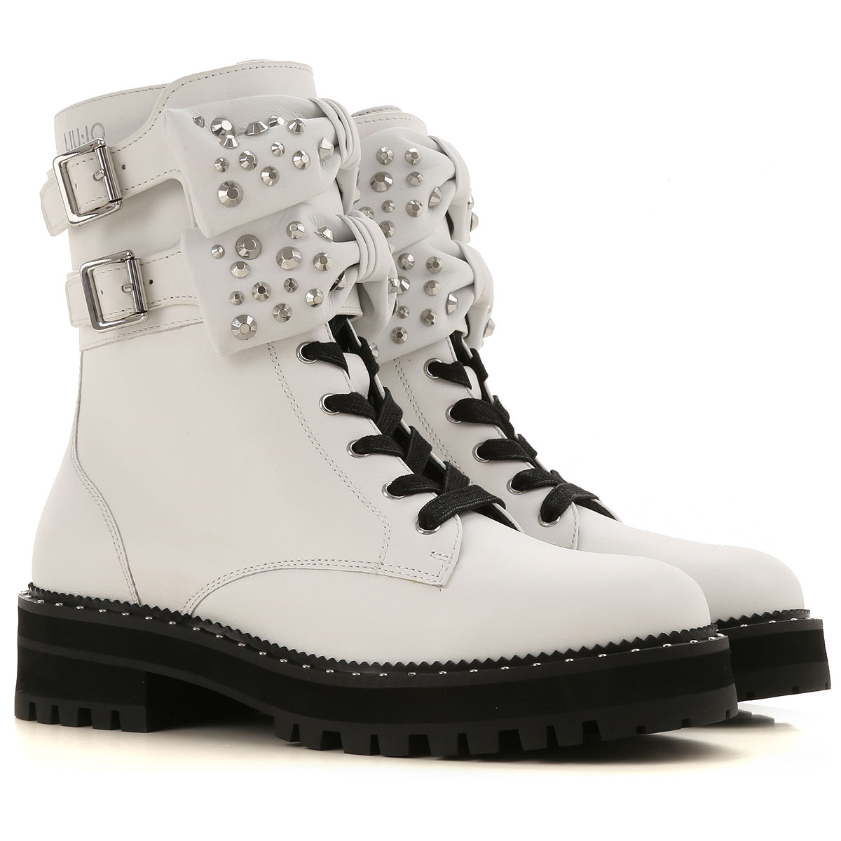 Liu Jo Boots for Women, Booties On Sale, White, Leather, 2019, 10 5 6 9