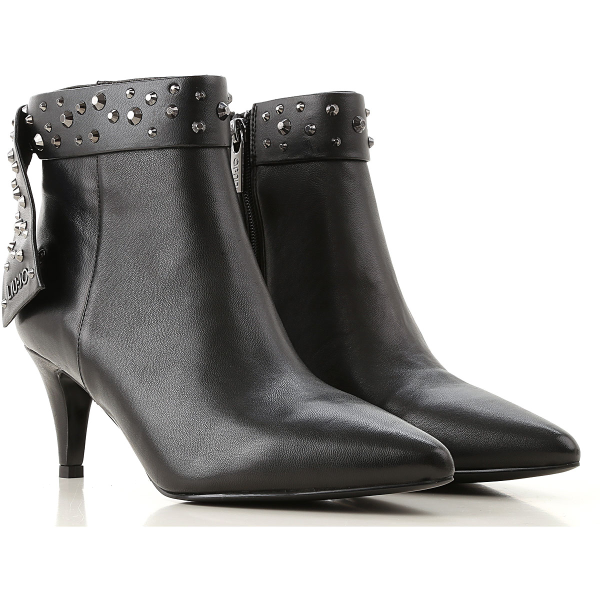 Liu Jo Boots for Women, Booties, Black, Leather, 2019, 10 6 7 9