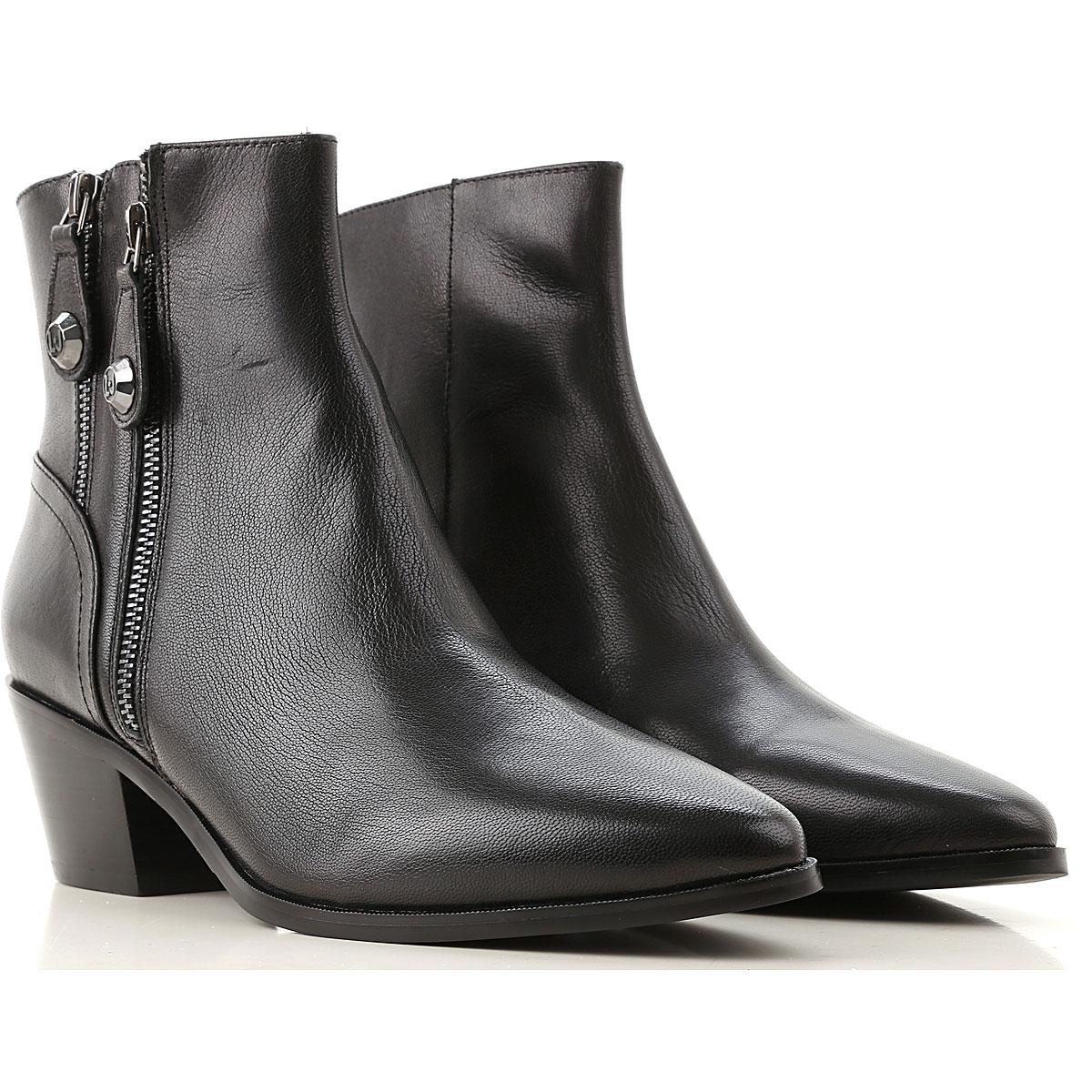 Liu Jo Boots for Women, Booties On Sale, Black, Leather, 2019, 10 6 7 8 9