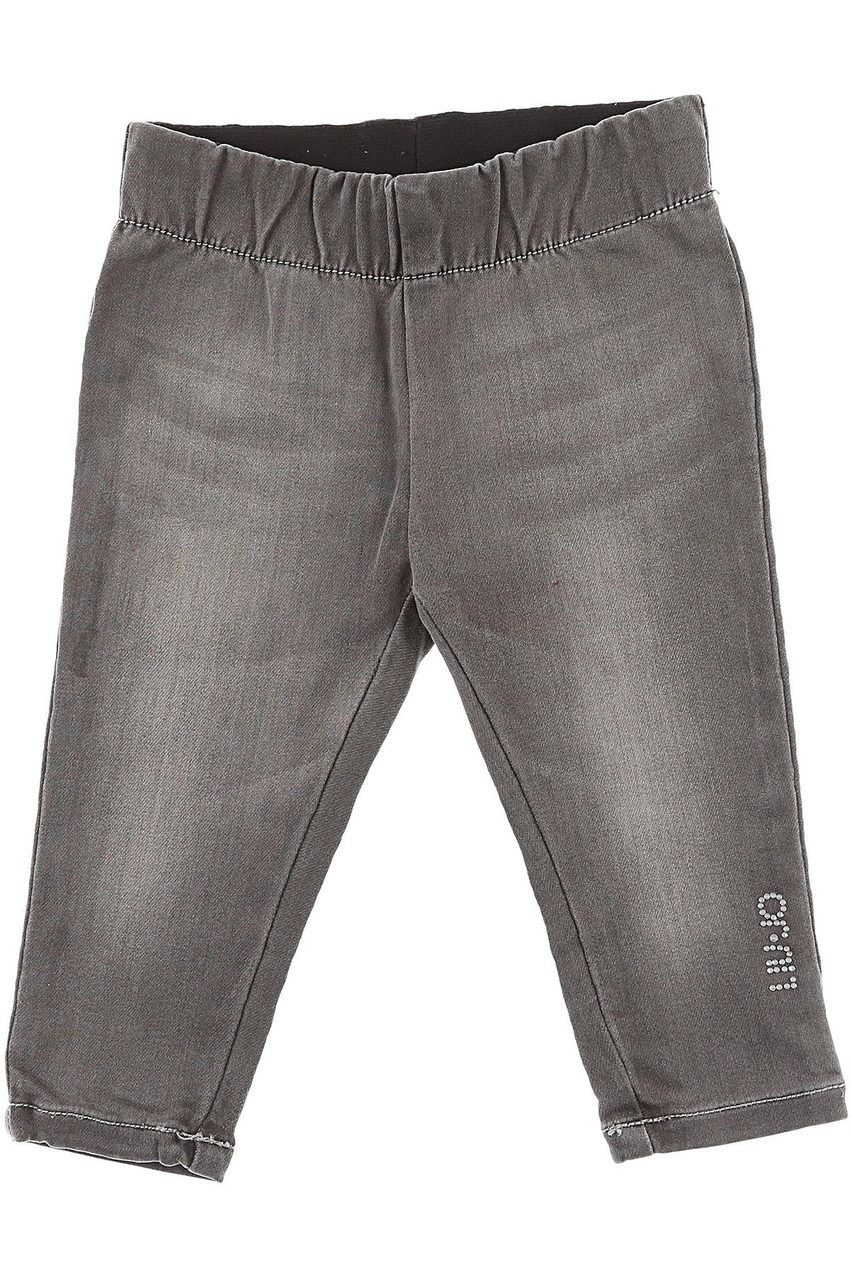 Image of Liu Jo Baby Pants for Girls, Denim Grey, Cotton, 2017, 12M 18M 6M 9M