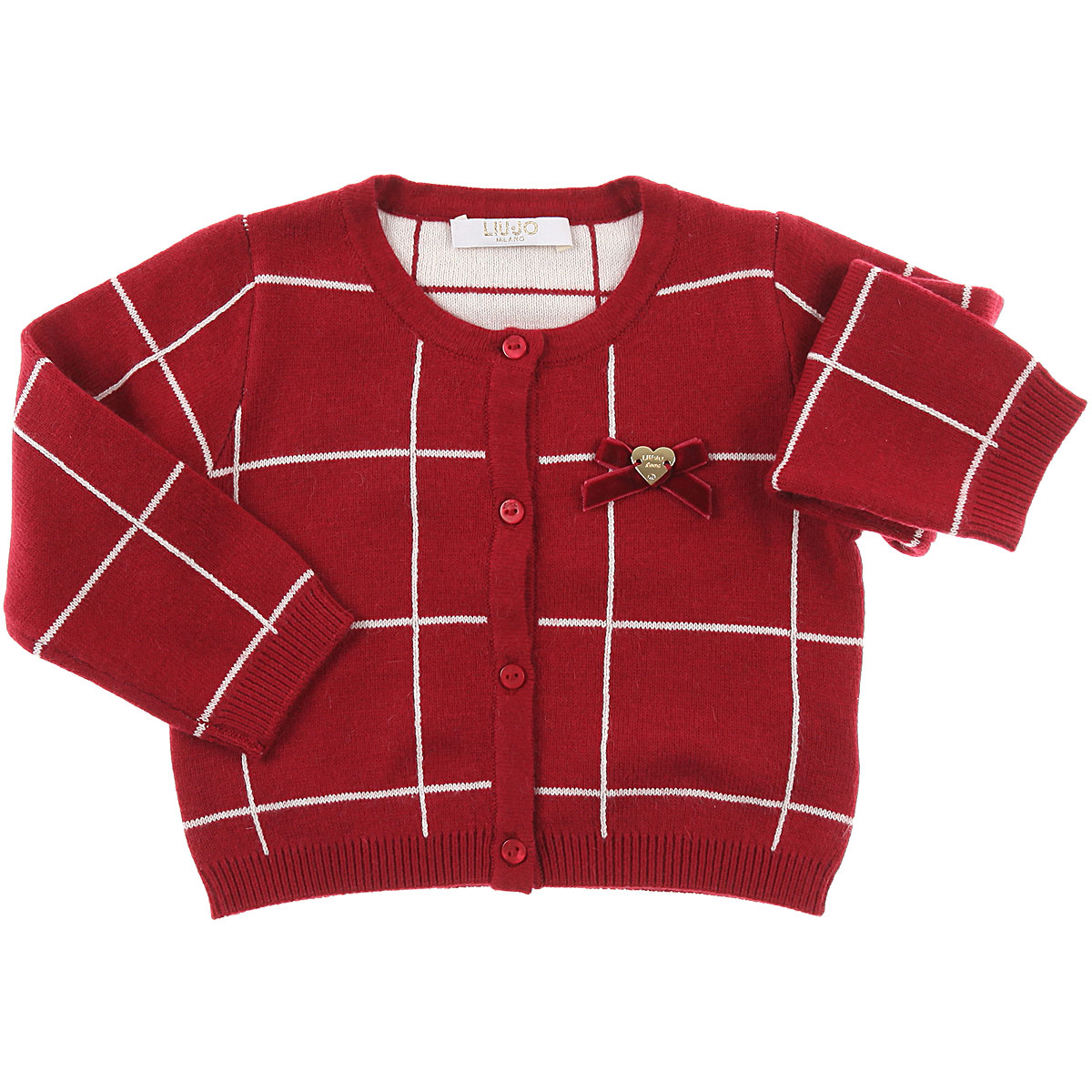 Image of Liu Jo Baby Sweaters for Girls, Red, Cotton, 2017, 12M 18M 6M 9M