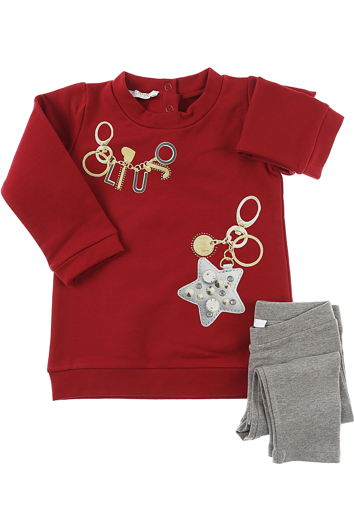Image of Liu Jo Baby Sets for Girls, Red, Cotton, 2017, 12M 6M