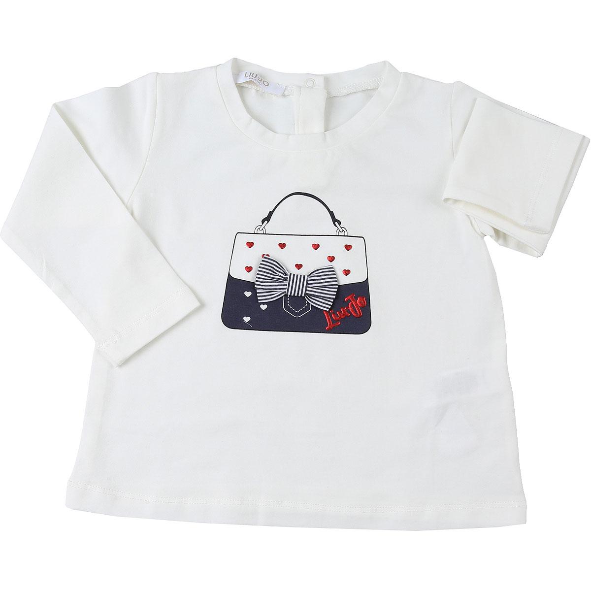 Liu Jo Baby T-Shirt for Girls On Sale, White Snow, Cotton, 2019, 12M 6M 9M