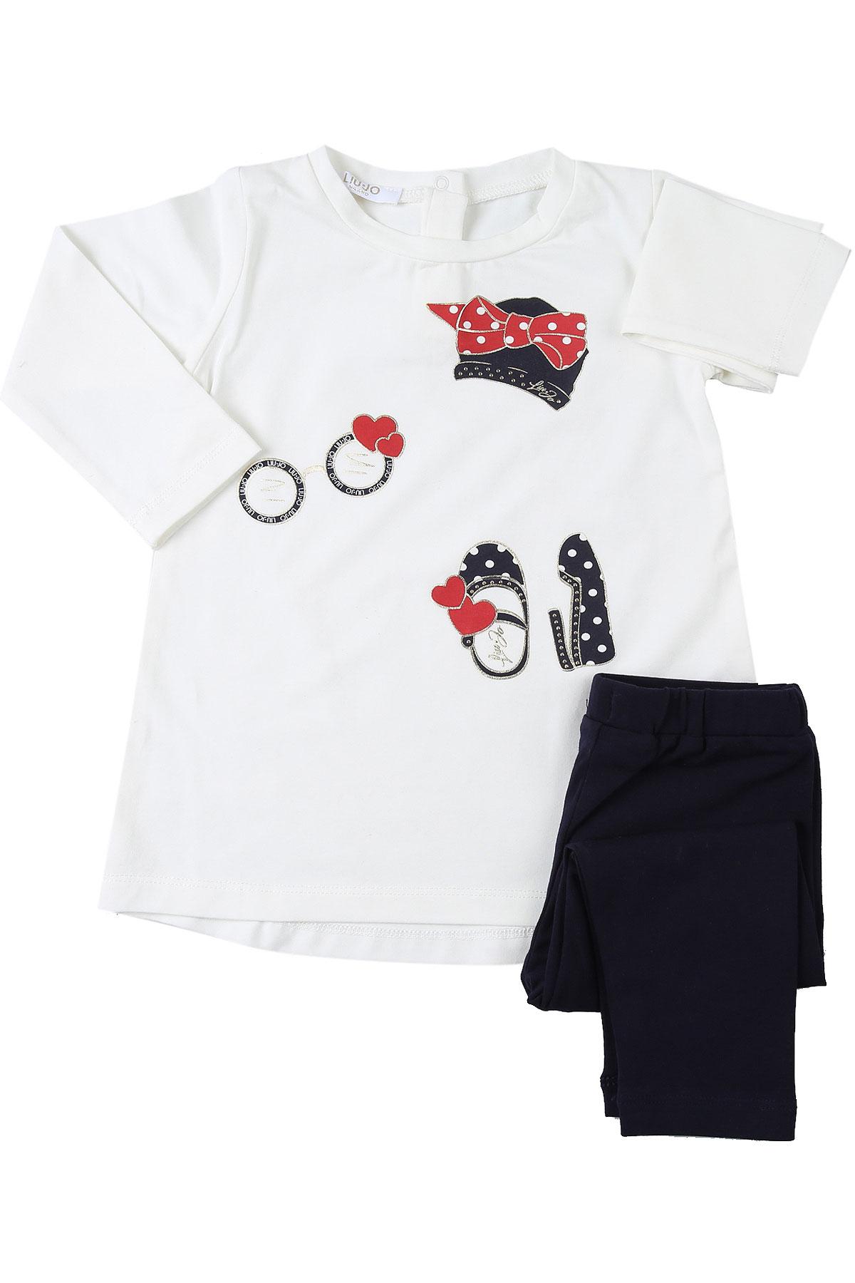Liu Jo Baby Sets for Girls On Sale, White Snow, Cotton, 2019, 12M 12M 18M 3M 6M 6M 9M