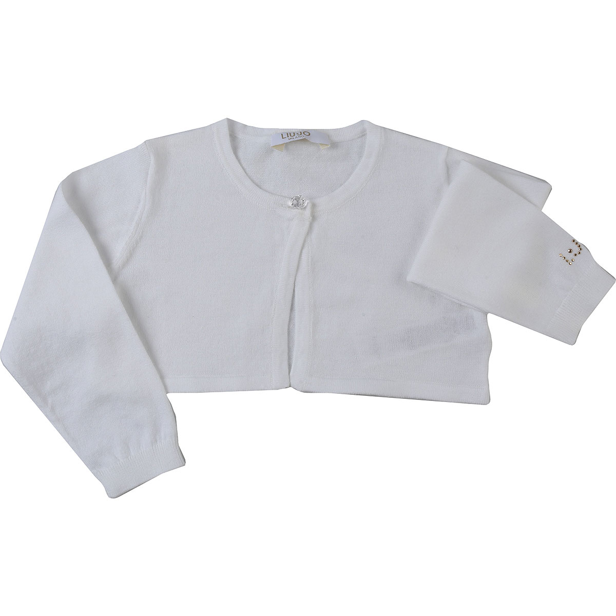 Liu Jo Baby Sweaters for Girls On Sale, White, Cotton, 2019, 12M 18M 3M 6M