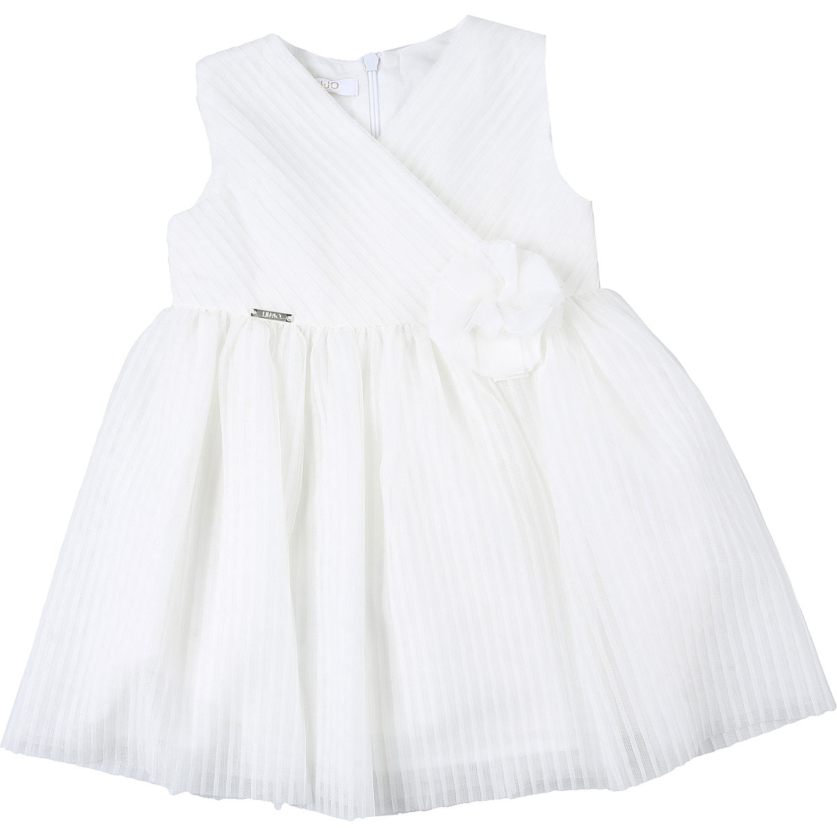 Liu Jo Baby Dress for Girls On Sale, White, polyester, 2019, 12M 18M 3M 6M
