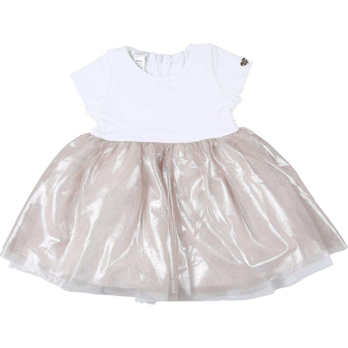 Liu Jo Baby Dress for Girls On Sale, White, Cotton, 2019, 12M 18M 3M 6M