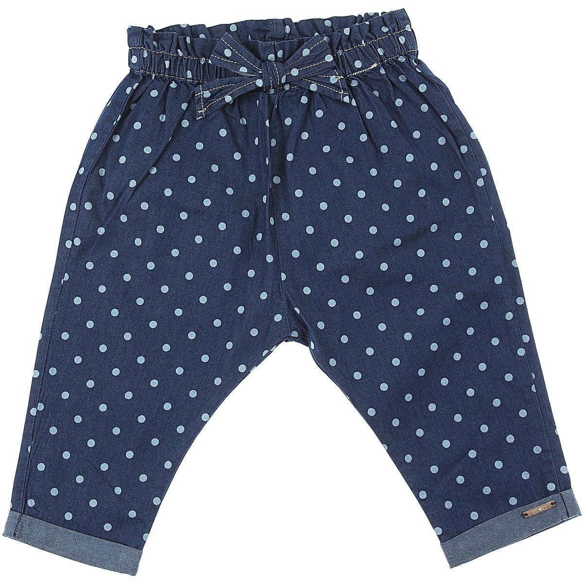 Liu Jo Baby Pants for Girls On Sale, Blue Denim, Cotton, 2019, 12M 18M 3M