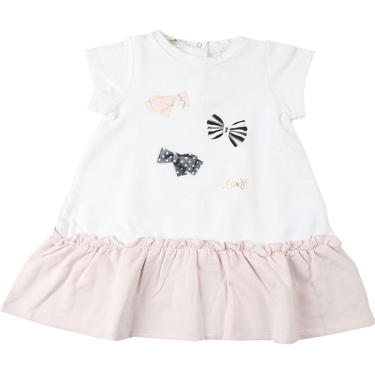 Liu Jo Baby Dress for Girls On Sale, White, Cotton, 2019, 12M 18M