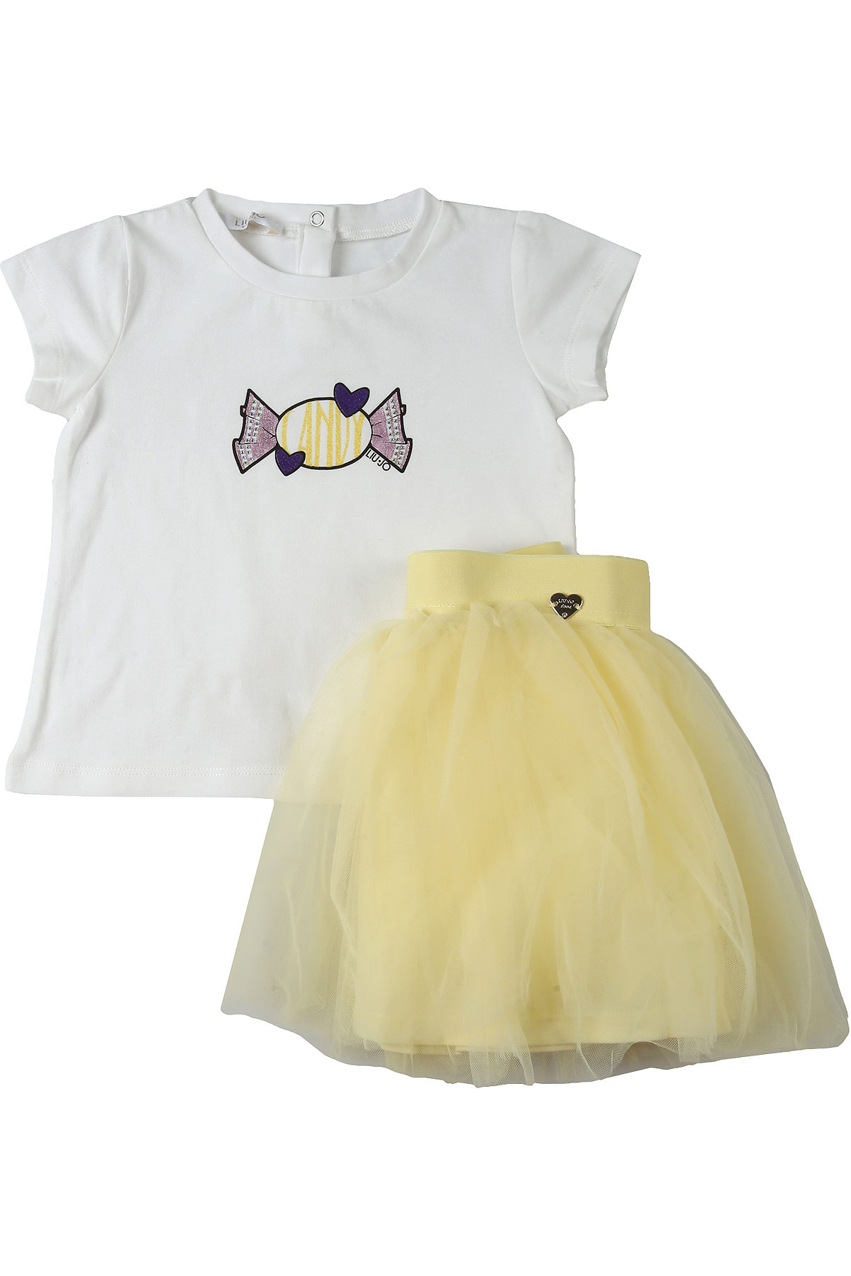 Liu Jo Baby Sets for Girls On Sale, White, Cotton, 2019, 12M 18M 3M