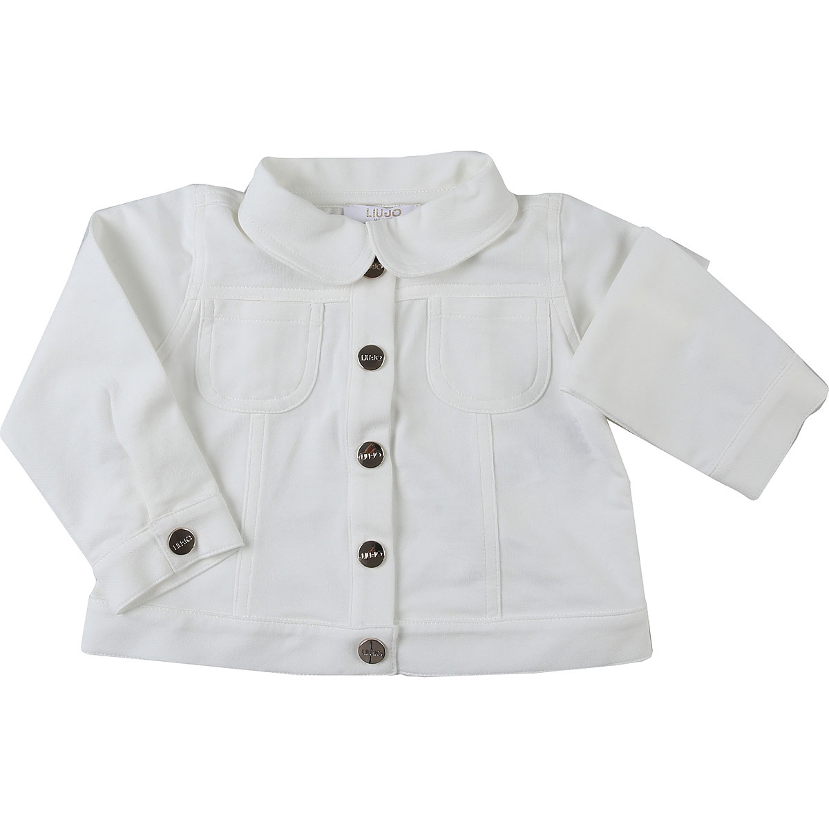 Liu Jo Baby Jacket for Girls On Sale, White, Cotton, 2019, 12M 18M 3M 6M