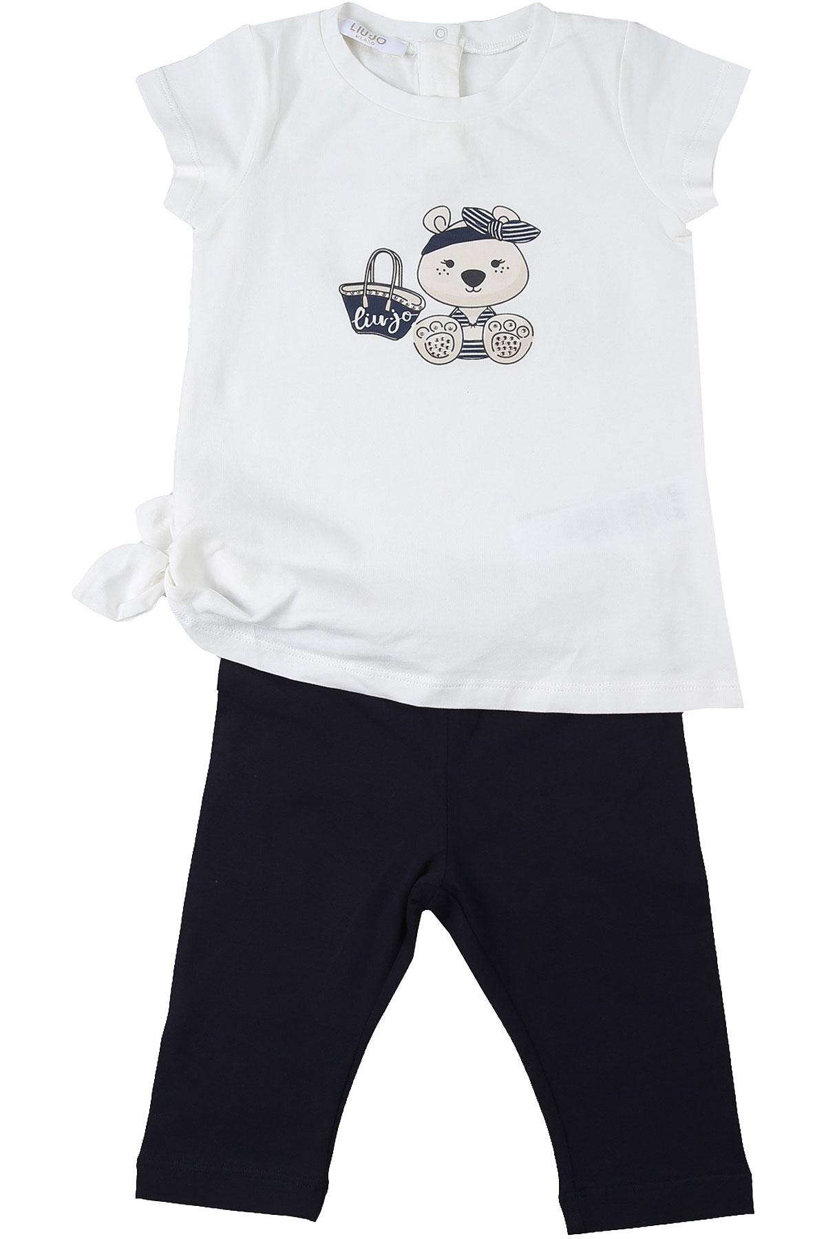 Liu Jo Baby Sets for Girls On Sale, White, Cotton, 2019, 12M 18M 3M 6M