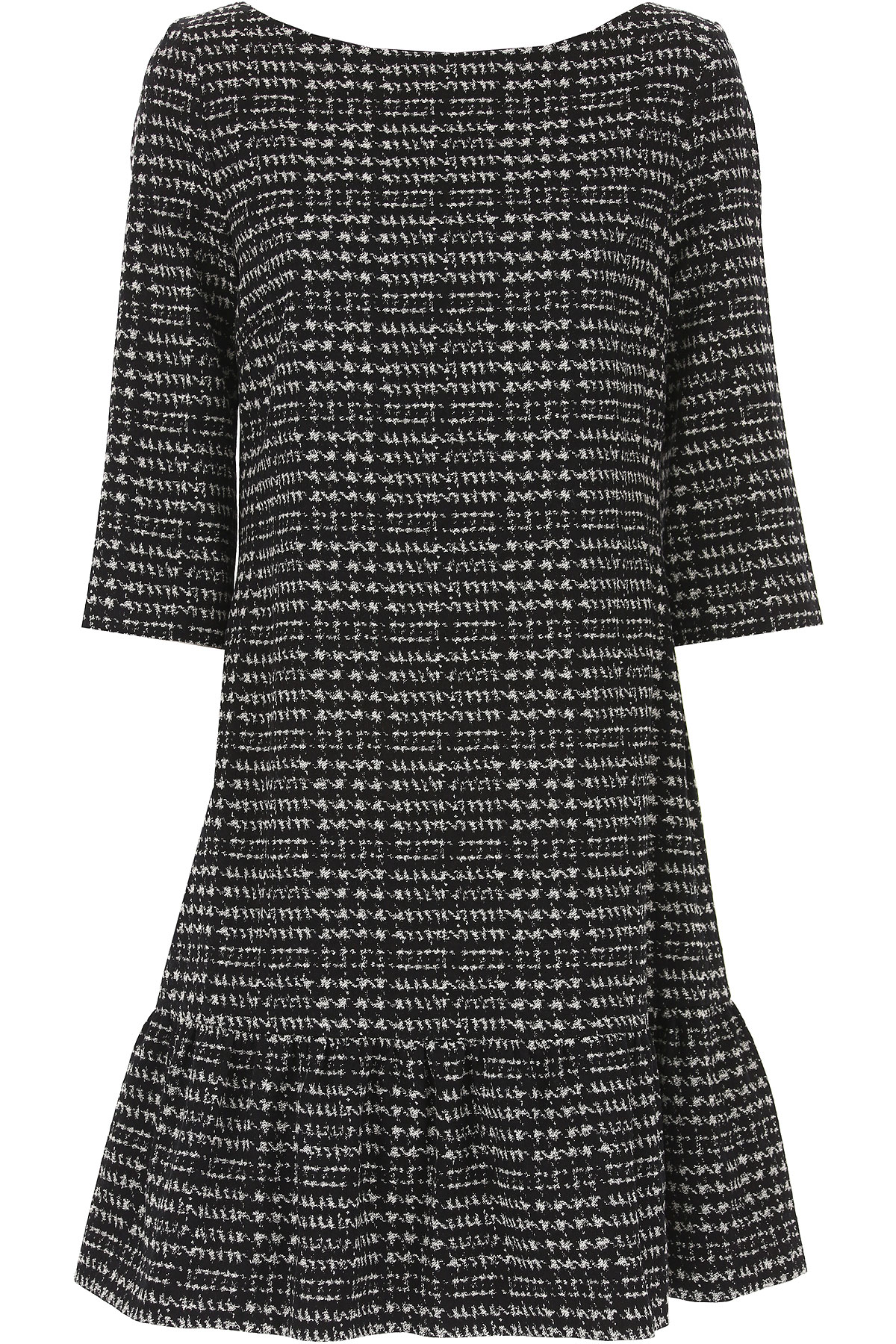 Image of Liu Jo Dress for Women, Evening Cocktail Party On Sale in Outlet, Black, Cotton, 2017, 10 8