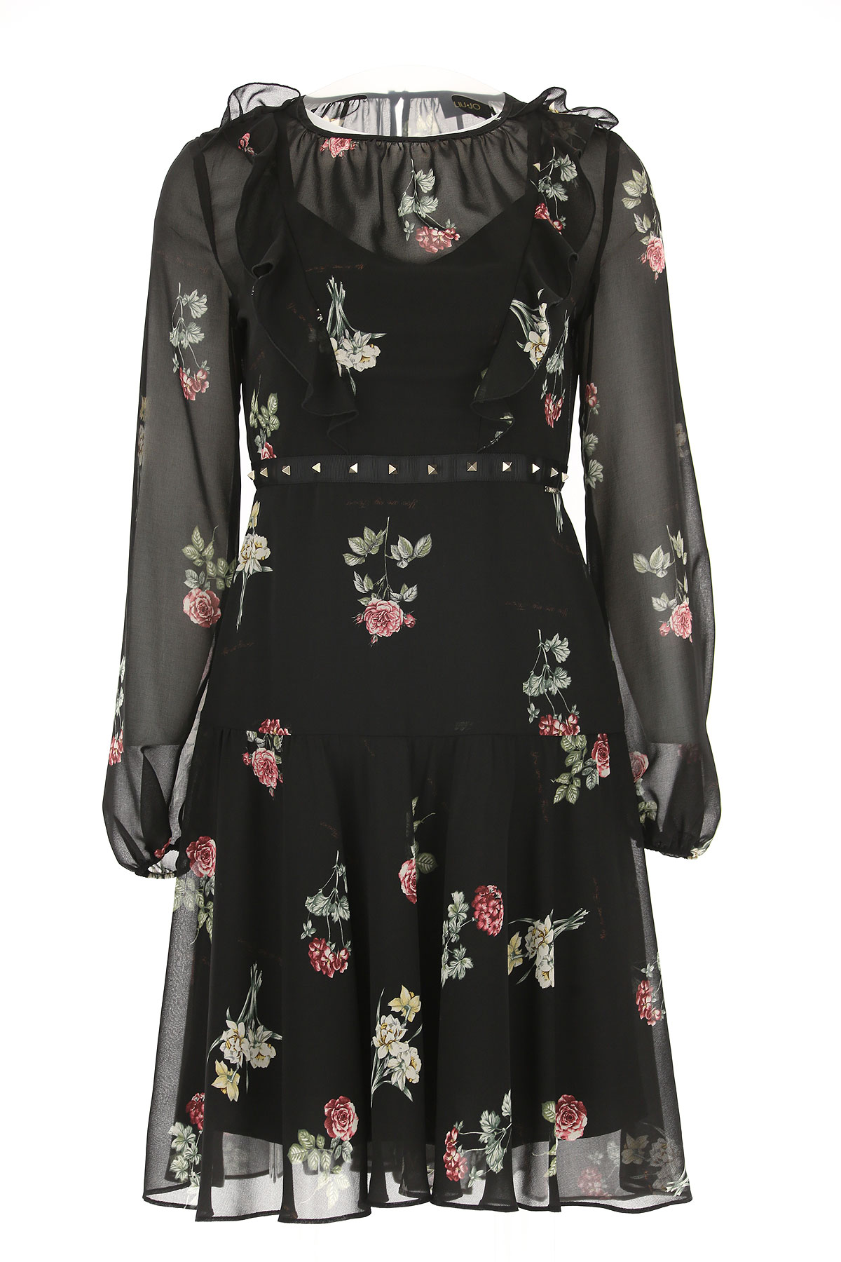 Image of Liu Jo Dress for Women, Evening Cocktail Party, Black, polyestere, 2017, 6 8