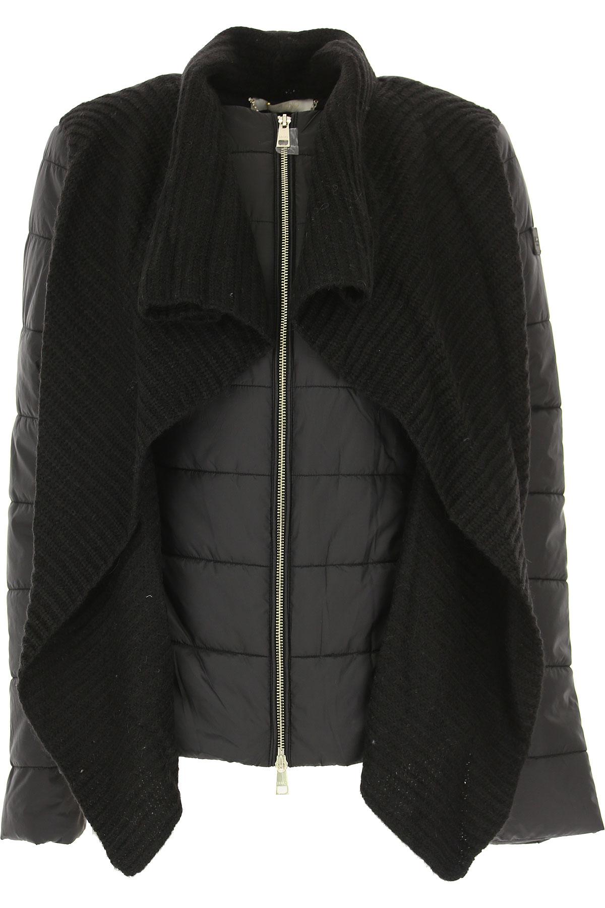 Image of Liu Jo Down Jacket for Women, Puffer Ski Jacket, Black, polyester, 2017, 4 6 8