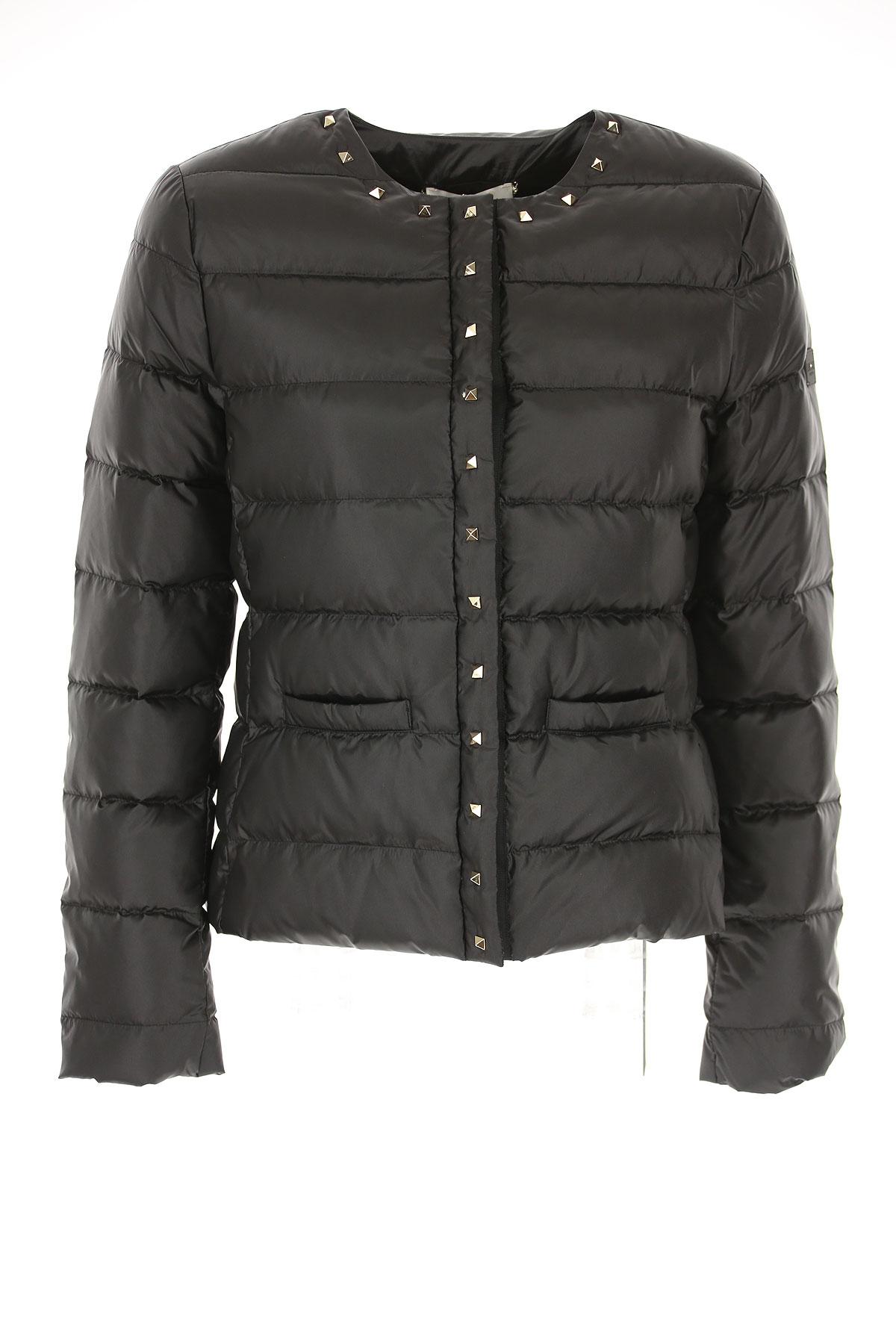 Image of Liu Jo Down Jacket for Women, Puffer Ski Jacket, Black, polyamide, 2017, 4 6 8