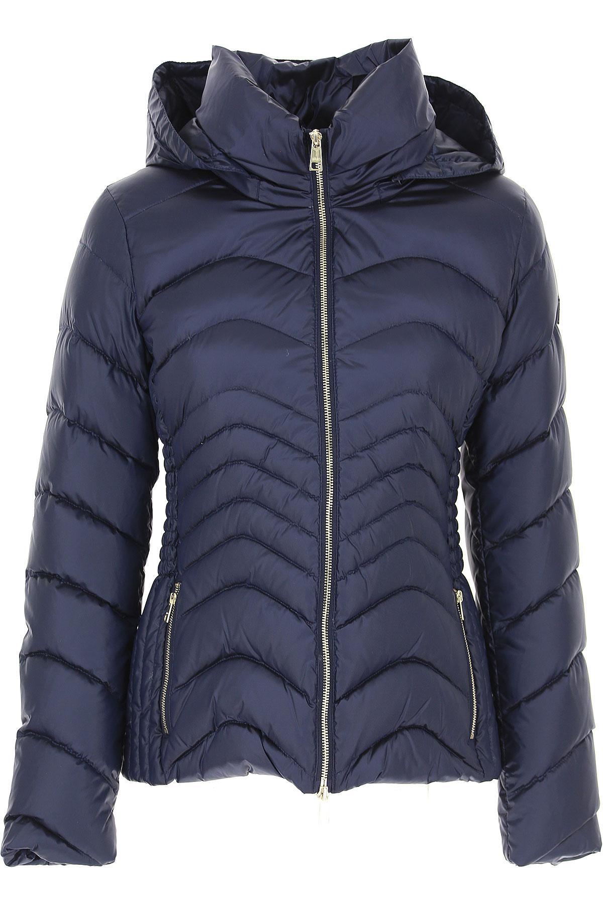 Image of Liu Jo Down Jacket for Women, Puffer Ski Jacket, Night Blue, polyester, 2017, 10 4 6