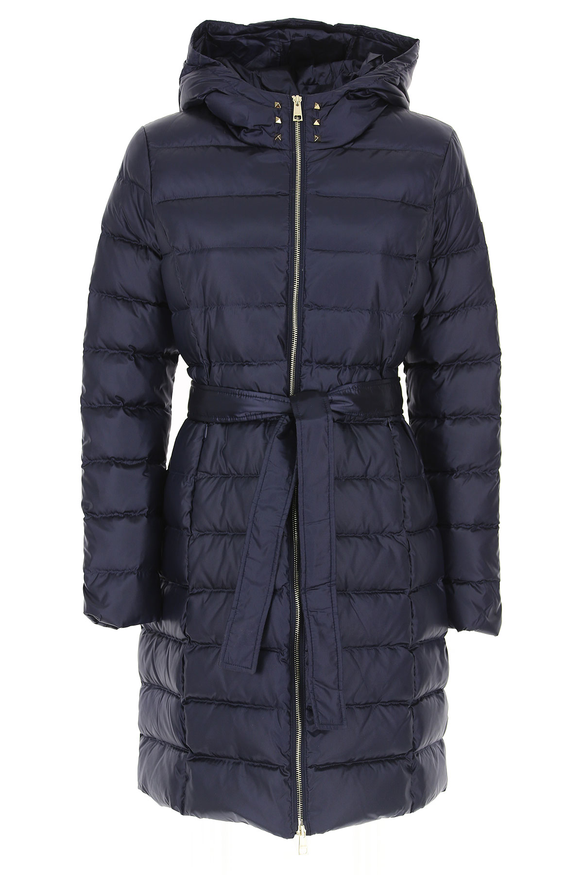 Image of Liu Jo Down Jacket for Women, Puffer Ski Jacket, Indescent Blue, polyester, 2017, 10 4 6 8