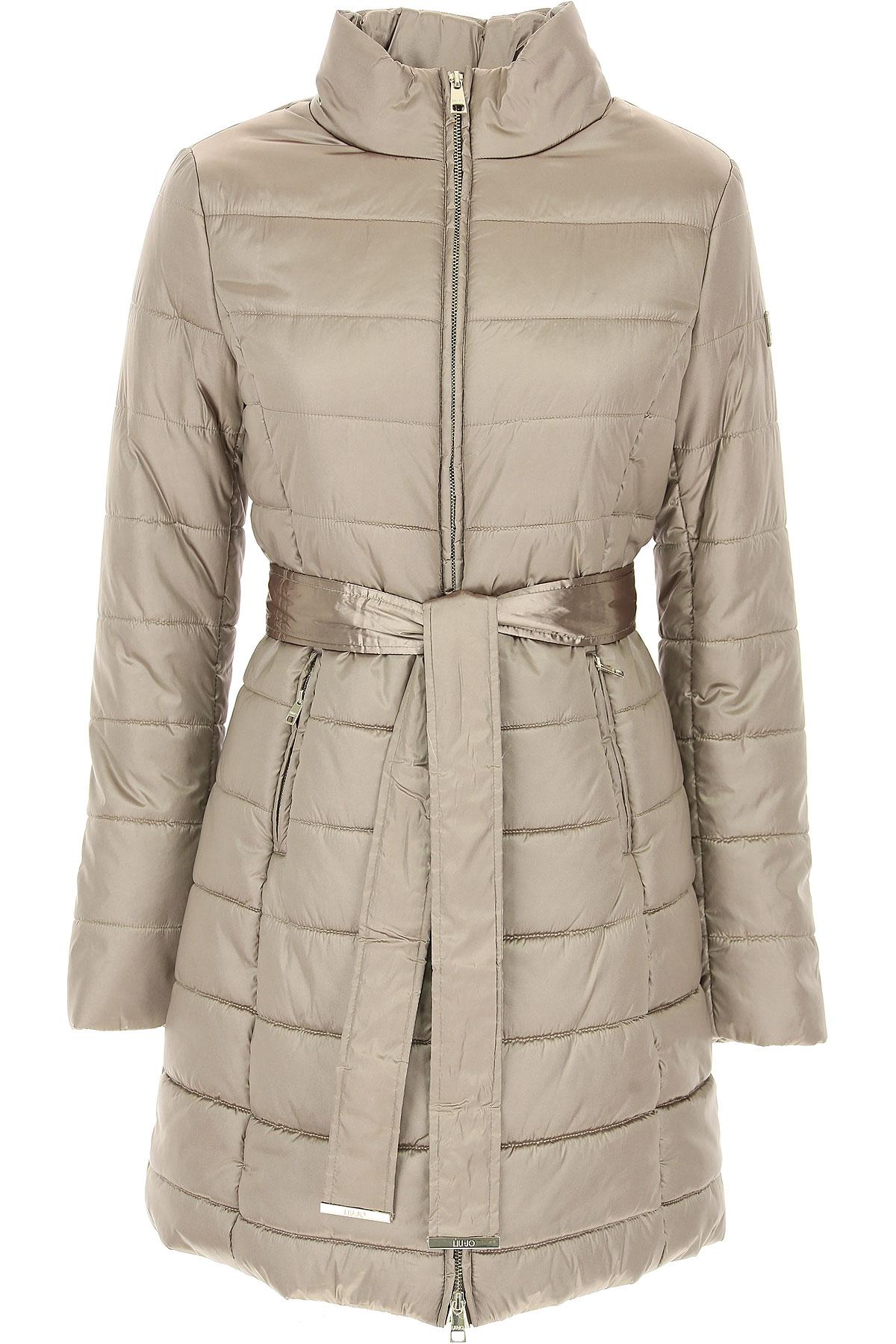 Image of Liu Jo Down Jacket for Women, Puffer Ski Jacket, Platinum, polyester, 2017, 10 4 6 8
