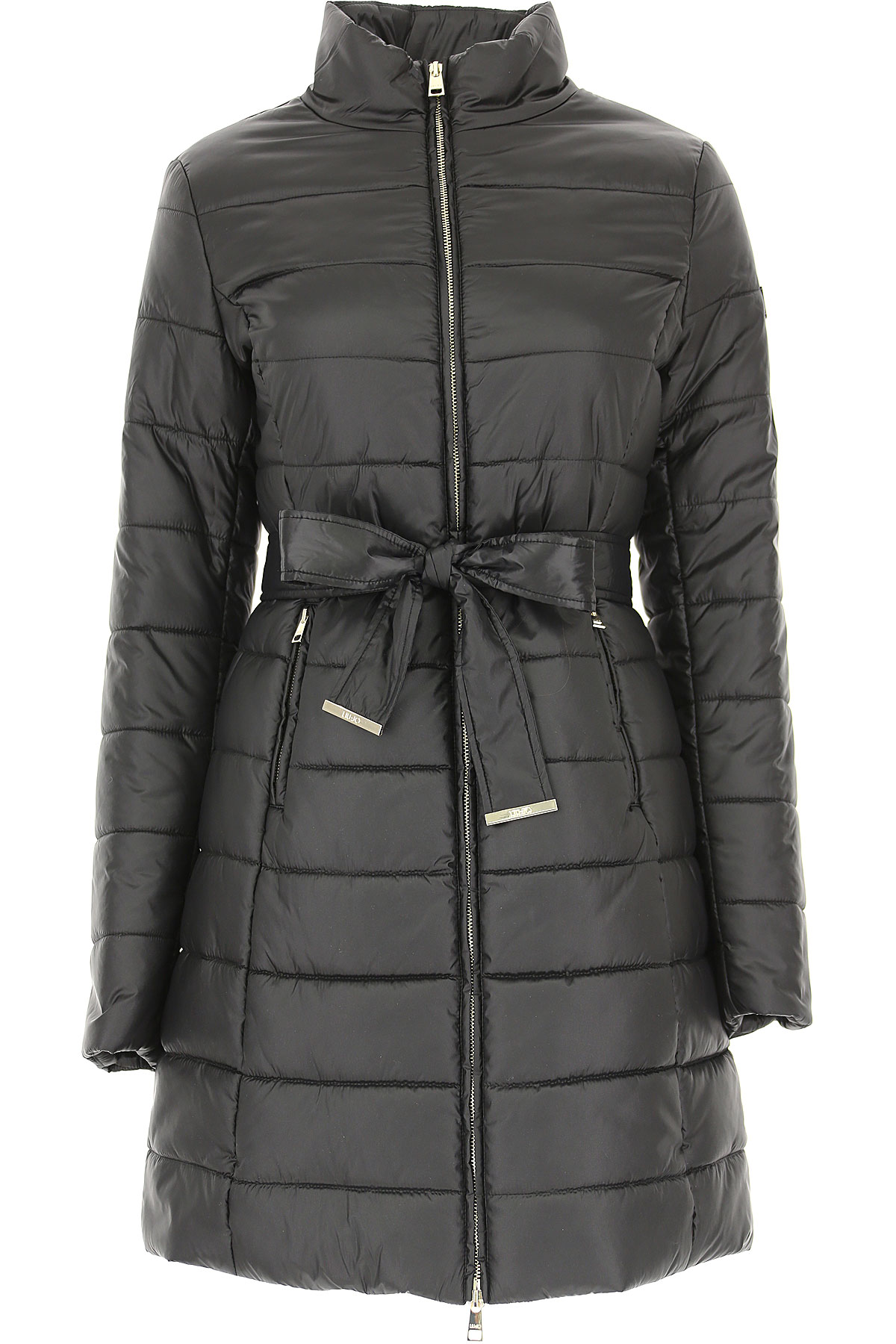 Image of Liu Jo Down Jacket for Women, Puffer Ski Jacket, Black, polyester, 2017, 10 4 6 8