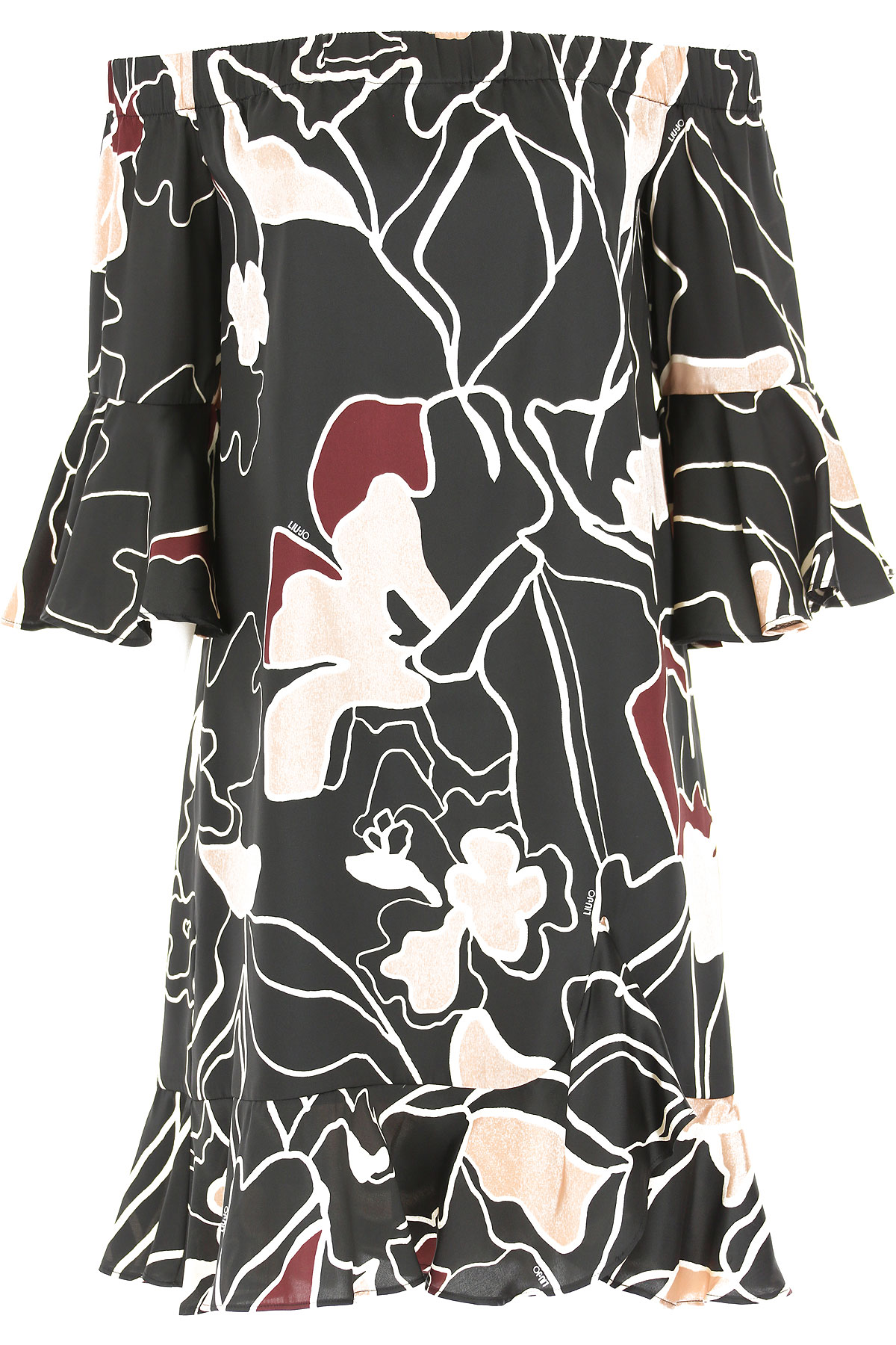 Liu Jo Dress for Women, Evening Cocktail Party, Black, polyestere, 2017, 4 6
