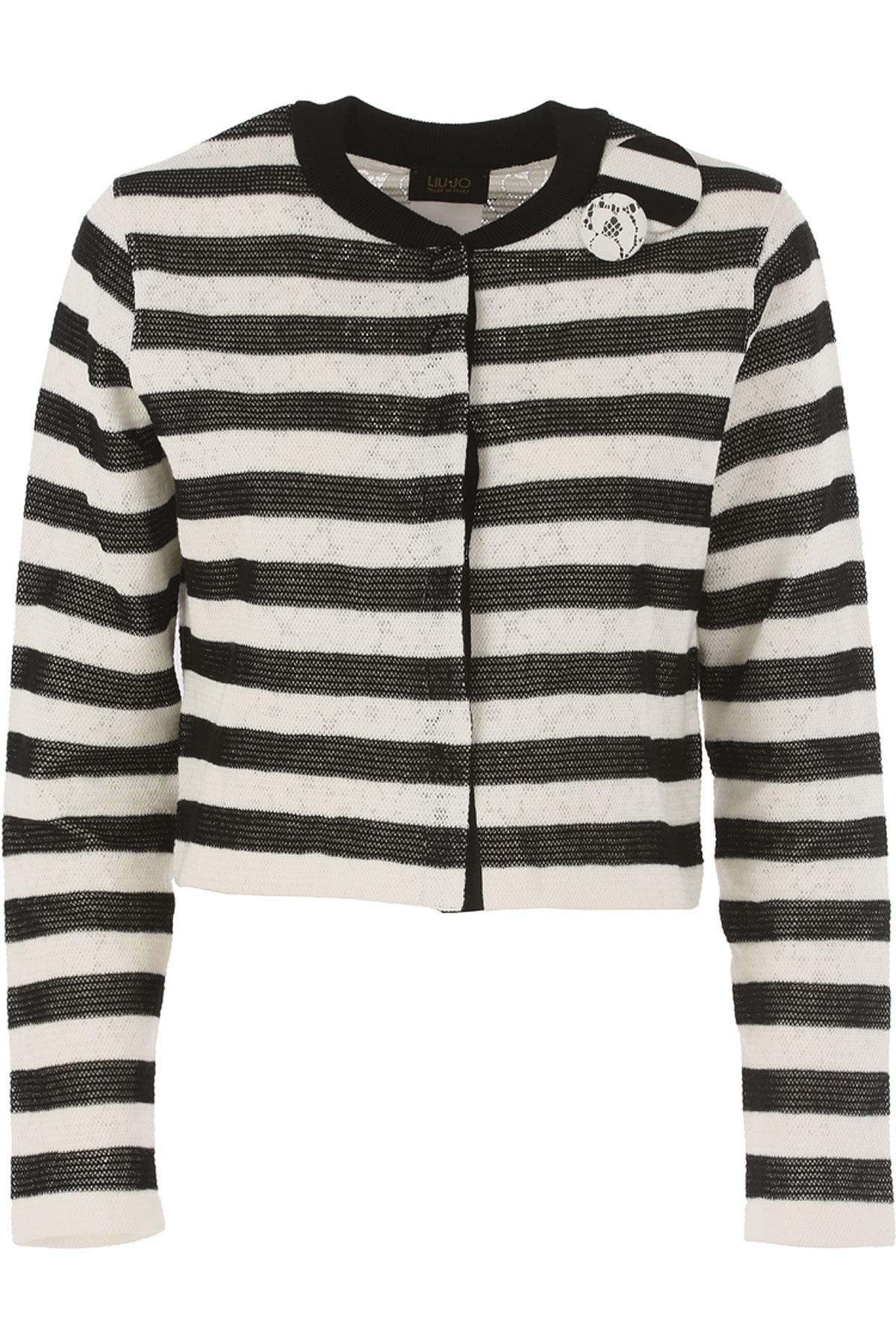 Image of Liu Jo Jacket for Women On Sale, Black, Cotton, 2017, 10 4 6 8