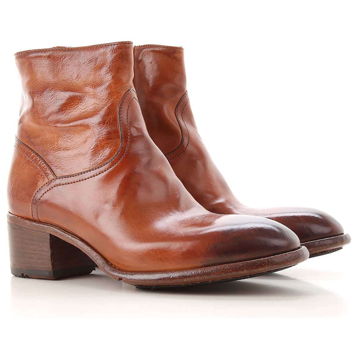 Lemargo Boots for Women, Booties On Sale, Cognac, Leather, 2019, 6 6.5 8 9.5