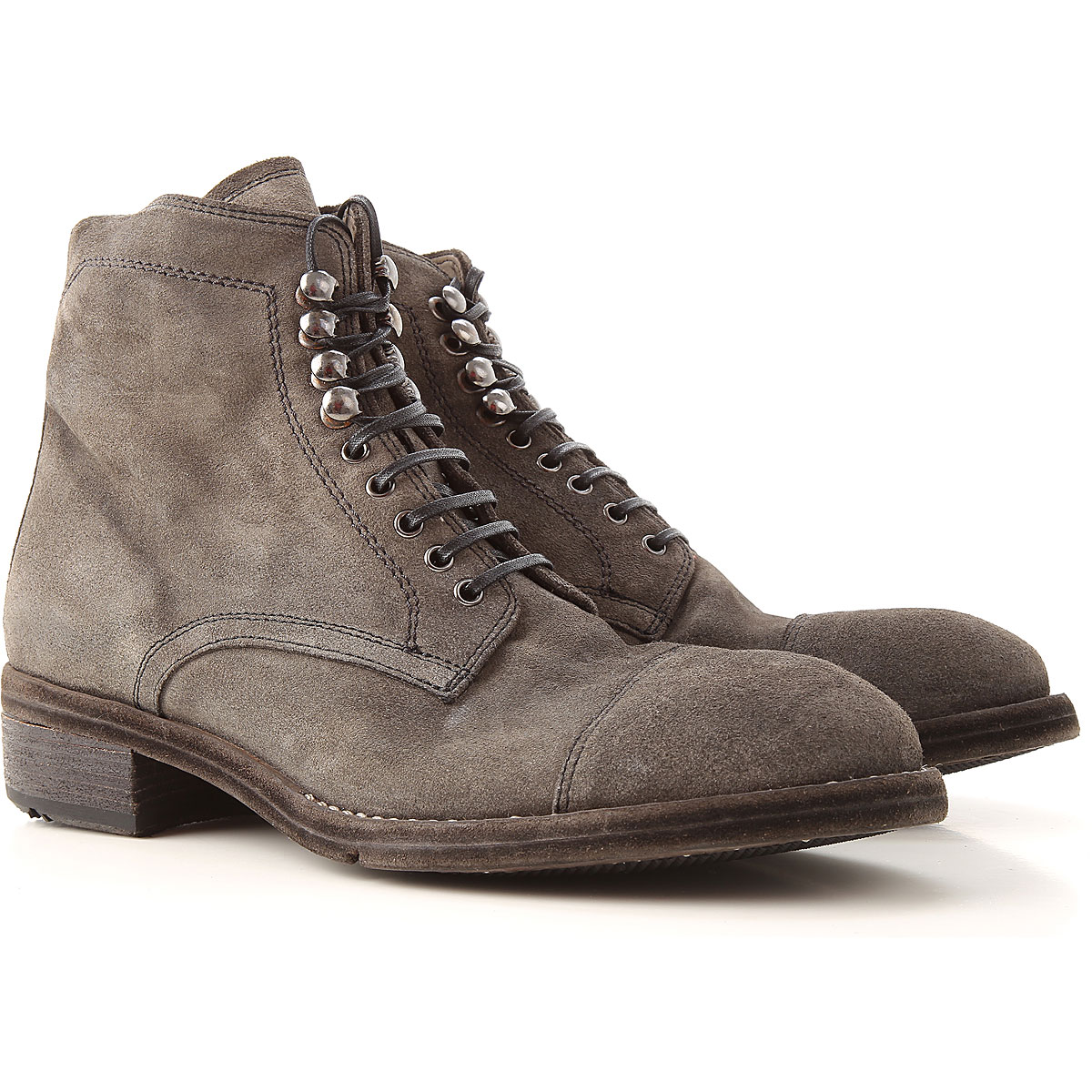 Lemargo Boots for Women, Booties On Sale, fog, Suede leather, 2019, 6.5 7 8.5