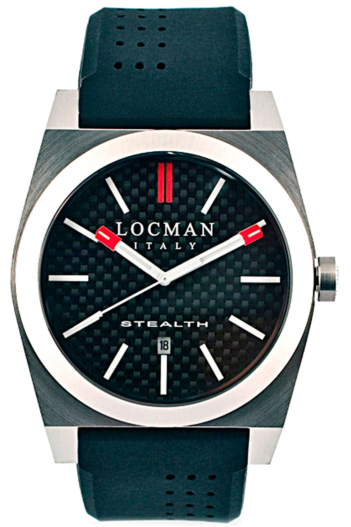 Locman Watch for Men, Black, Carbon Fiber, 2019