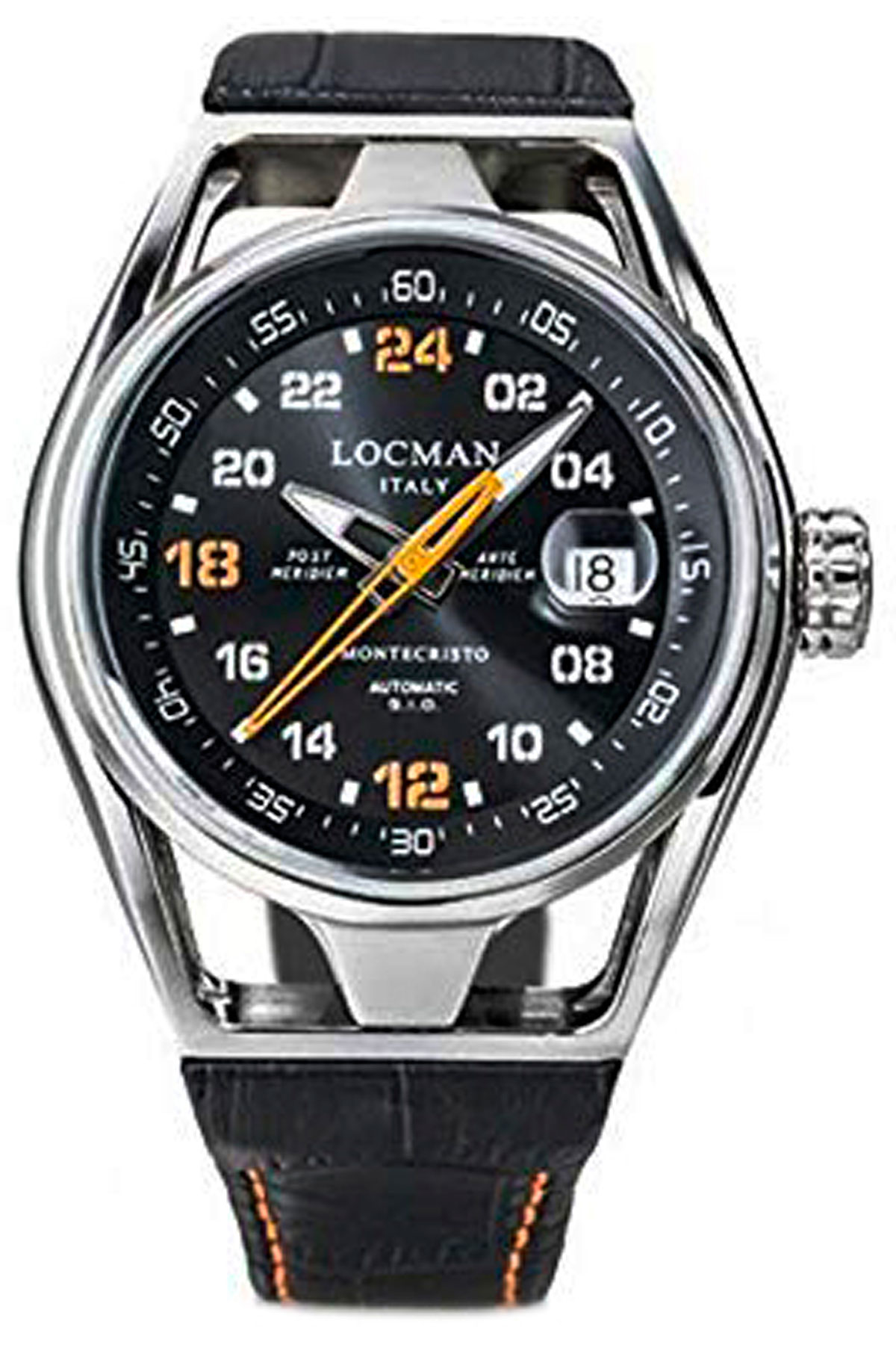 Locman Watch for Men, Black, Leather, 2019