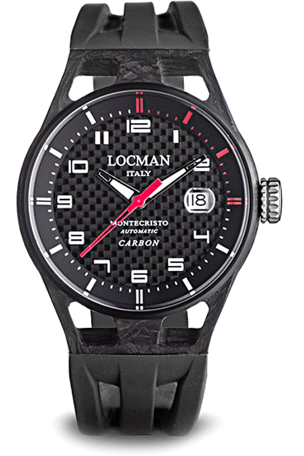 Locman Watch for Men, Black, Carbon, 2019