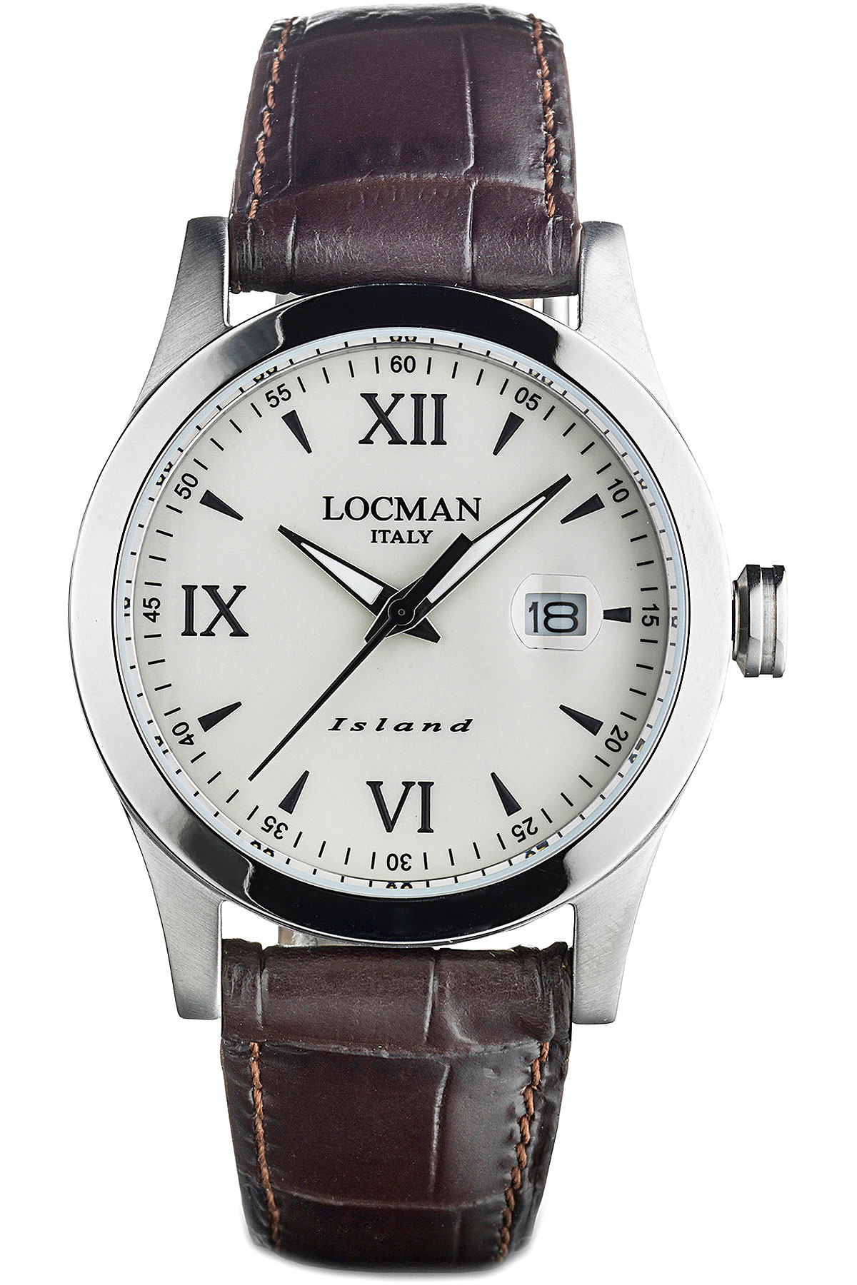 Locman Watch for Men, Brown, Leather, 2019