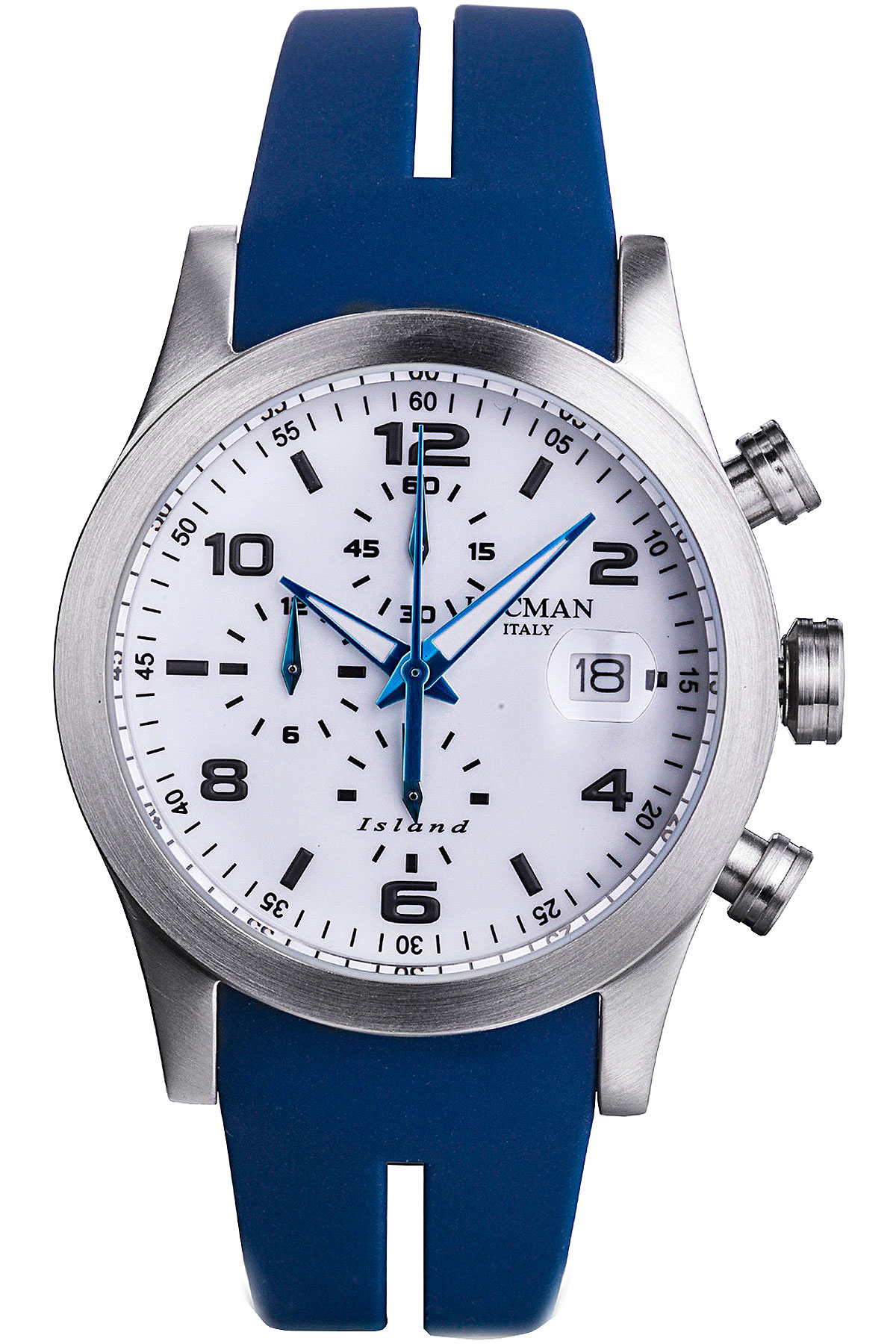 Locman Watch for Men, Blue, Silicone, 2019