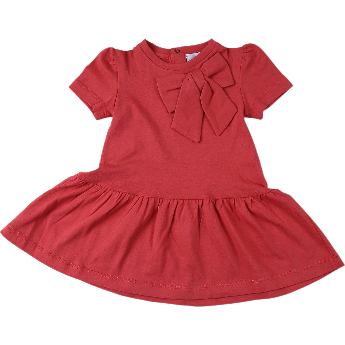 Le Petit Coco Baby Dress for Girls On Sale, Coral, Organic Cotton, 2019, 12M 18M 2Y
