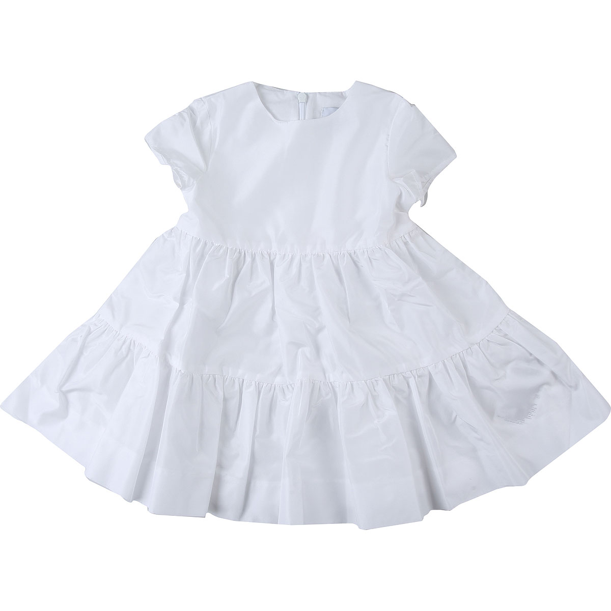 Le Petit Coco Baby Dress for Girls On Sale, White, acetate, 2019, 12M 18M 2Y